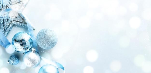 Blaue weihnachtsflache lage