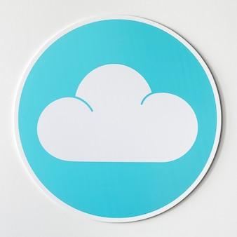Blaue wolkenikonen-technologiegraphik
