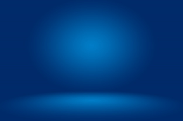 Blauer abstrakter hintergrund. glattes dunkelblau mit schwarzem vignetten-studio