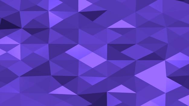 Blauer abstrakter niedriger polyhintergrund, geometrische form der dreiecke. eleganter und luxuriöser dynamischer stil für unternehmen, 3d-illustration