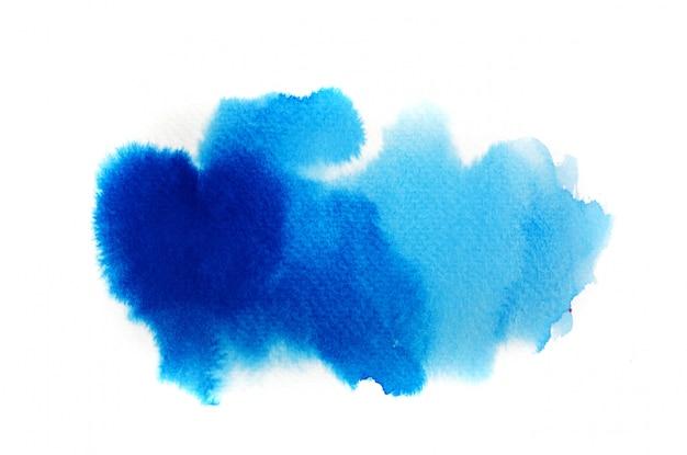 Blauer aquarellhintergrund. kunst hand malen