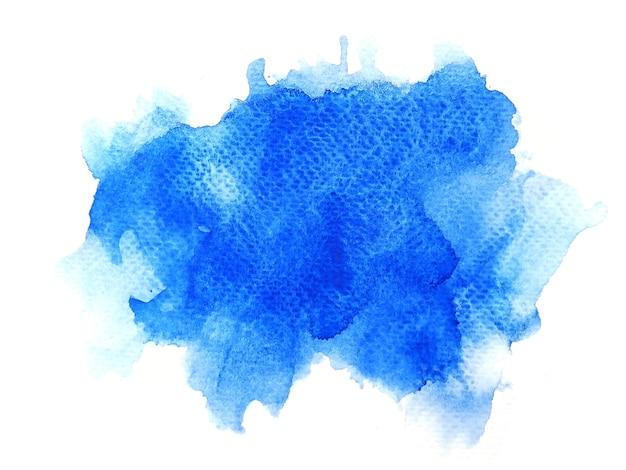 Blauer aquarellhintergrund. kunst handfarbe