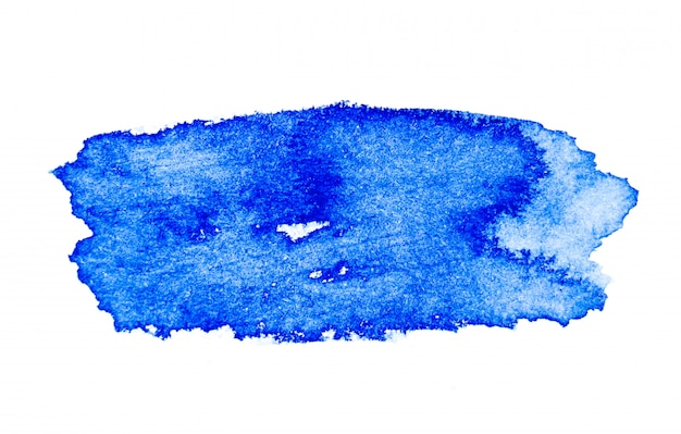 Blauer aquarellpinsel