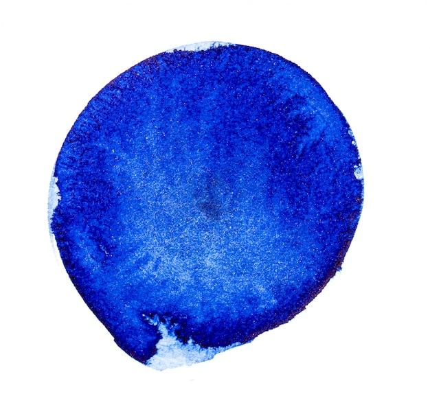 Blauer aquarellpinsel