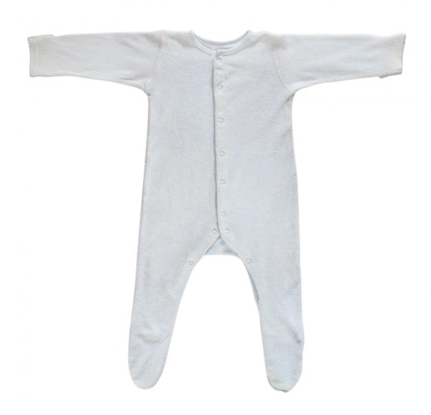 Blauer babyschläfer lokalisiert auf weiß