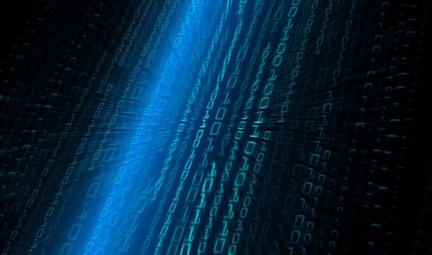 Blauer binärer zukünftiger technologiekonzepthintergrund des cyberstromkreises