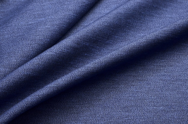Blauer denim-stoff