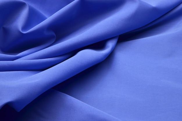 Blauer denim-stoff