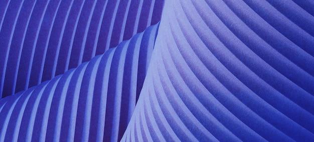 Blauer faltstoff plissierte geometrischen hintergrund. 3d-rendering-illustration.