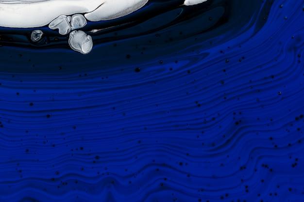 Blauer flüssiger marmorhintergrund abstrakte fließende textur experimentelle kunst