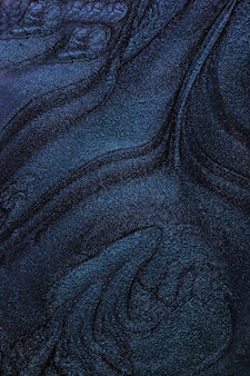 Blauer flüssiger nagellackabstraktes banner mit kopienraummake-up-konzept