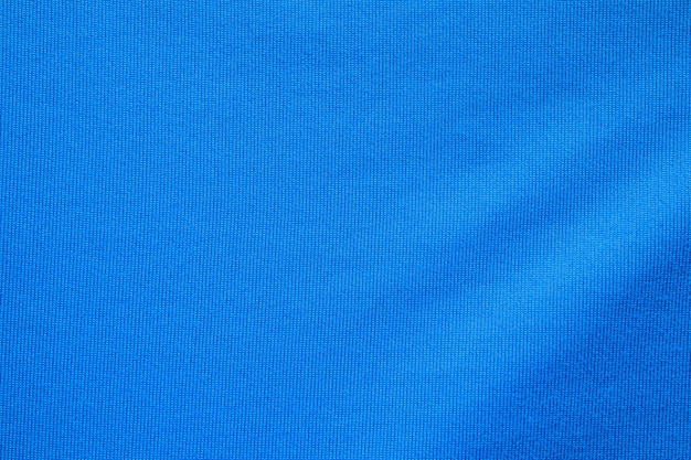 Blauer fußballtrikot kleidung stoff textur sportbekleidung hintergrund