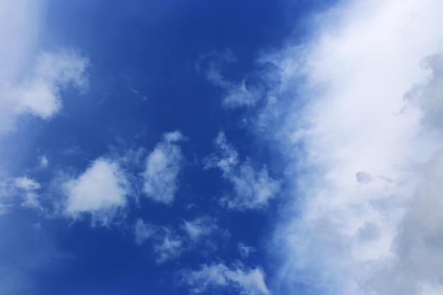 Blauer himmelhintergrund mit weißen wolken. wolken mit blauem himmel. wolkenhintergrund. himmelsdruck. wolken drucken