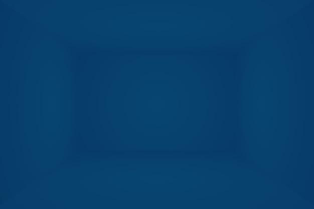 Blauer hintergrund der abstrakten luxussteigung. glattes dunkelblau mit schwarzer vignette studio banner. 3d-studiozimmer.