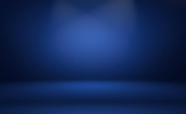 Blauer hintergrund der abstrakten luxussteigung. glattes dunkelblau mit schwarzer vignette studio banner. Kostenlose Fotos