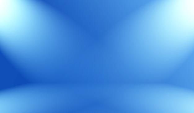Blauer hintergrund der abstrakten luxussteigung. glattes dunkelblau mit schwarzer vignette studio banner.