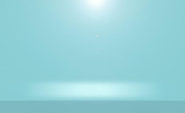 Blauer hintergrund der abstrakten luxussteigung. glattes dunkelblau mit schwarzer vignette studio banner. Premium Fotos