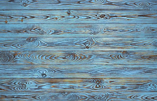 Blauer hölzerner plankenhintergrund, alt und schmutzblau färbten hölzerne beschaffenheit