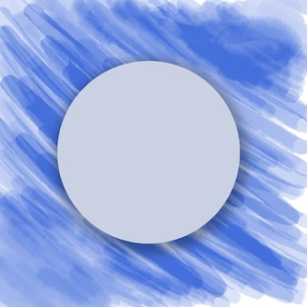 Blauer kreis auf blauem hintergrundaquarell