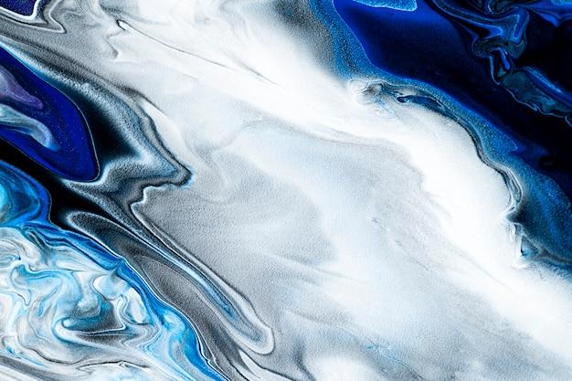 Blauer marmorstrudelhintergrund diy abstrakte fließende textur experimentelle kunst