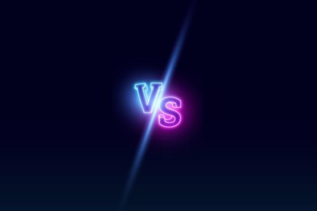 Blauer neon gegen logo