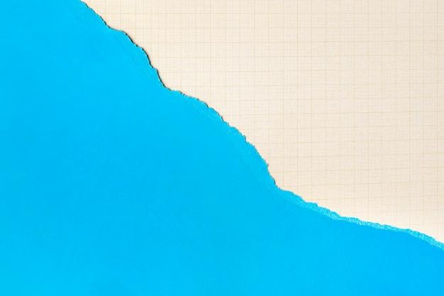 Blauer papierformhintergrund