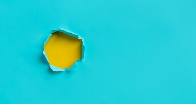 Blauer papierriss textur background.copy space