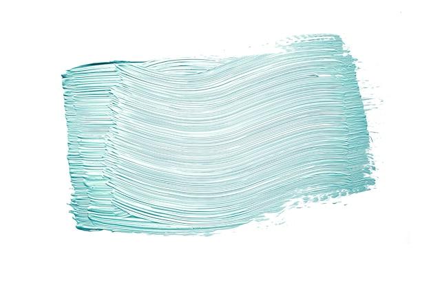 Blauer pinselstrich auf weiß