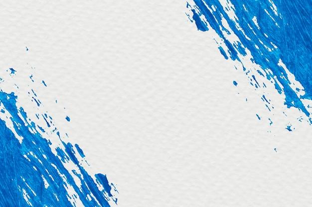 Blauer pinselstrichrahmen