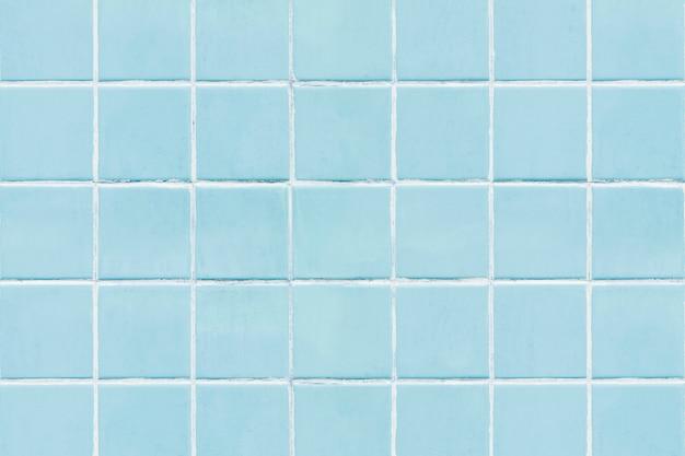 Blauer quadratischer mit ziegeln gedeckter beschaffenheitshintergrund