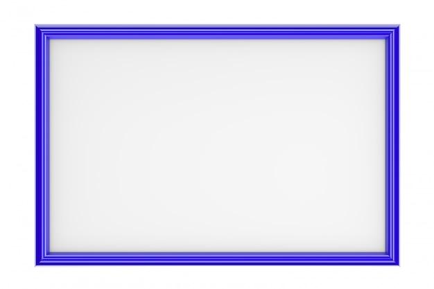 Blauer rechteckiger bilderrahmen