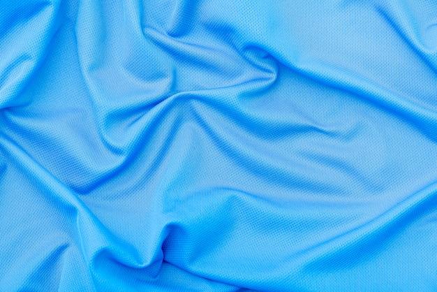 Blauer stoff stoff, polyester textur, sport tragen hintergrund
