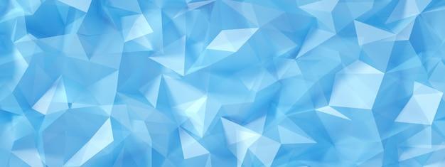 Blauer, türkisfarbener hintergrund mit kristallen, dreiecken.