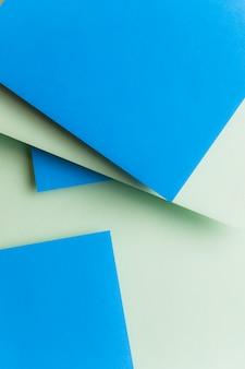 Blauer und grüner geometrischer abstrakter hintergrund