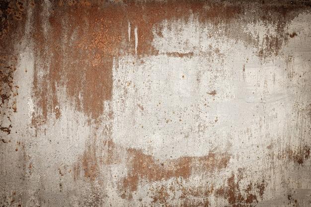 Blauer und türkiser hintergrund des rostigen metalls