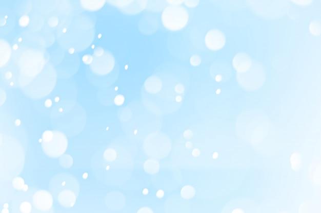Blauer und weißer bokeh hintergrund