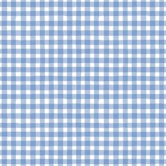Blauer und weißer grunge-gingham-tartan karierter abstrakter geometrischer nahtloser musterhintergrund