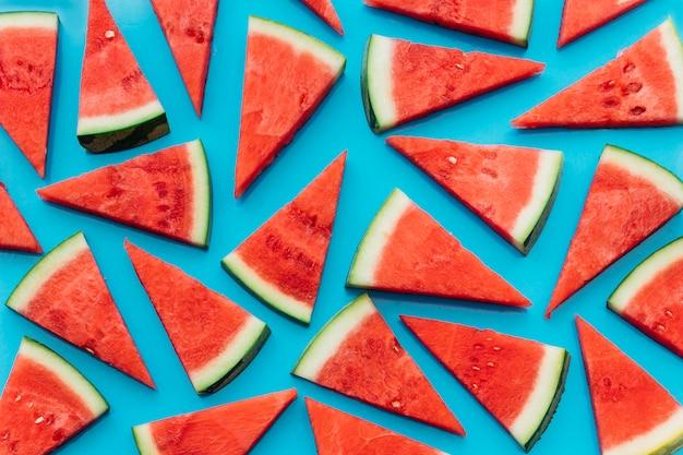 Blauer wassermelonenhintergrund