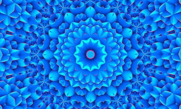 Blauer weißer polygonaler mosaik-hintergrund, kaleidoskoptapete. kreative business-design-vorlagen