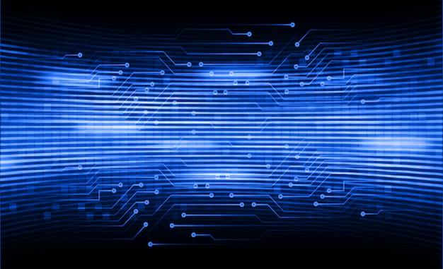 Blauer zukünftiger technologiekonzepthintergrund des cyberstromkreises