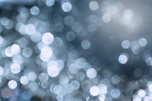 Blaues abstraktes bokeh lichteffekt auf hintergrund