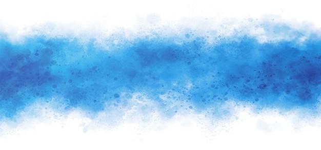 Blaues aquarell auf weißer hintergrundillustration