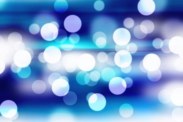 Blaues bokeh mit unscharfem hintergrund