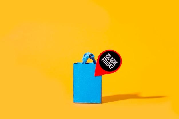 Blaues einkaufspaket