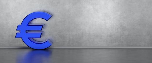 Blaues euro-symbol banner