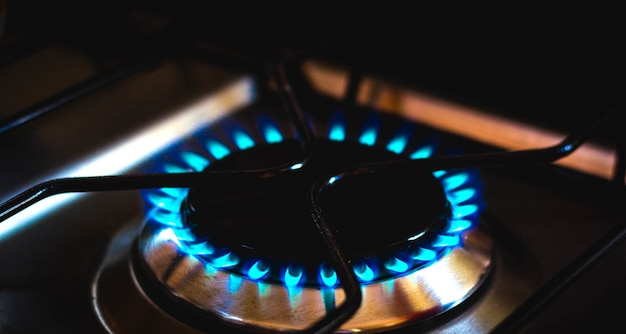 Blaues feuer, das durch kochgas erzeugt wird flüssiggas glp gas de cozinha aus brasilien