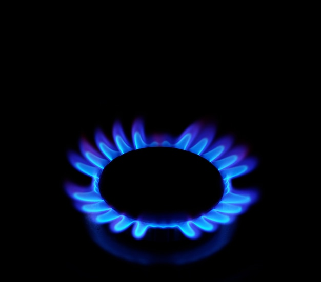 Blaues gas