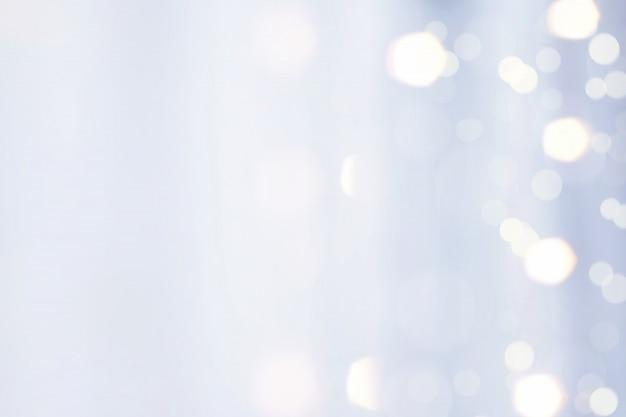 Blaues gewebe mit bokeh light reflex blur background