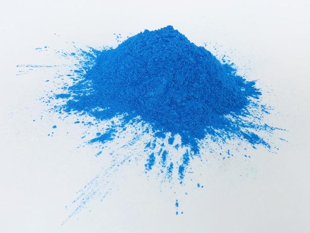 Blaues glimmerpigment, kosmetisches pulver