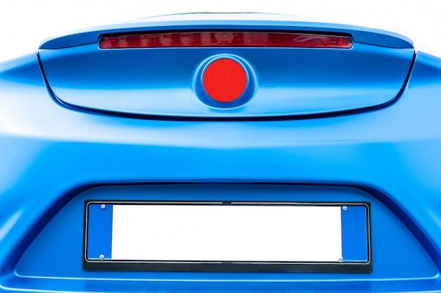 Blaues hinteres auto